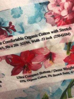 12 Ultra Compact bottom dress weight Organic Cotton Woven 3% satin stretch250gsm