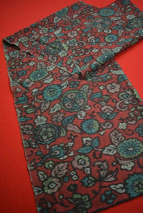 7 Japanese vintage kimono Boro fabric wool - 150x35cm