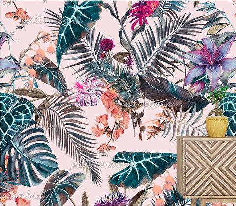 Botanical 16. Eco-Digital printing on choice EcoVero, Tencel Satin or Mo