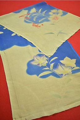 8 Japanese vintage kimono Boro fabric silk 100x33cm