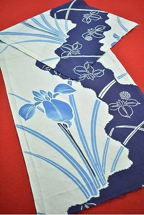 9 Japanese vintage kimono Boro fabric cotton 109x35cm