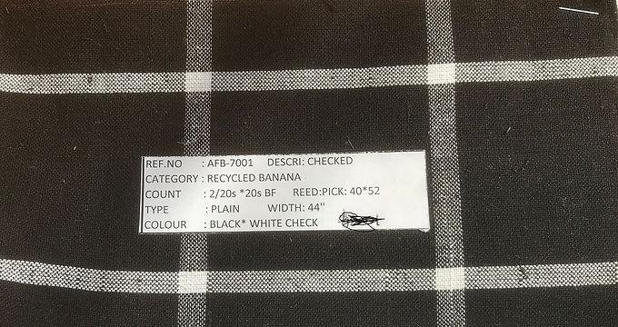 Organic Cotton & BANANA. #4. CHECK B&W 7001