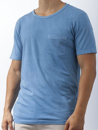 T-Shirts. LIGHT INDIGO. GOTS Organic Cotton; Hand Dyed w.Plant Dyes. MOQ 100