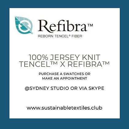 100% TENCEL REFIBRA KNIT JERSEY. 125gsm. Black & white/RFD-P