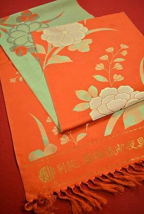 "7 Japanese vintage kimono Boro fabric silk 71.3"""