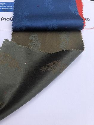 Modal & Cotton Jacquard P3. SMALL FLORAL.Olive/Khaki