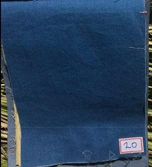 MEDIUM INDIGO. Plain. ORGANIC COTTON. 90gsm. Price $10.60/m* >250m