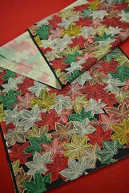 5 Japanese vintage kimono Boro fabric wool - 97x37cm