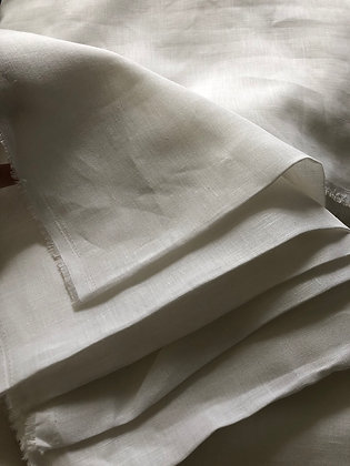 WHITE LINEN. 100% 125gsm. SAMPLING 5m MOQ