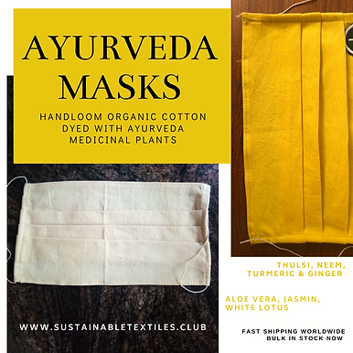 AYURVASTRA MASKS. 50x Yellow or White. aud$10 each.