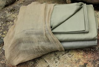 20x20 AYURVASTRA HANDLOOM ORGANIC COTTON. BROWN, 2 TYPES OF NEEM