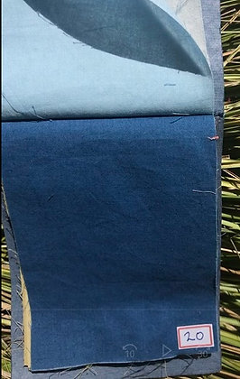PLAIN WEAVE. MEDIUM INDIGO. 90gsm ORGANIC COTTON. Price in AUD$, US$ AND UK£