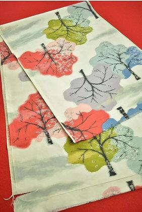"10. Japanese vintage kimono Boro fabric silk 49.2"""