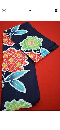 3 Japanese vintage kimono Boro fabric cotton 90x17.5cm