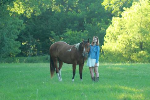 Horse & Senior Girl