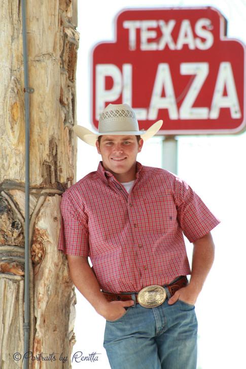 Boys Senior Photo Texas Plaza