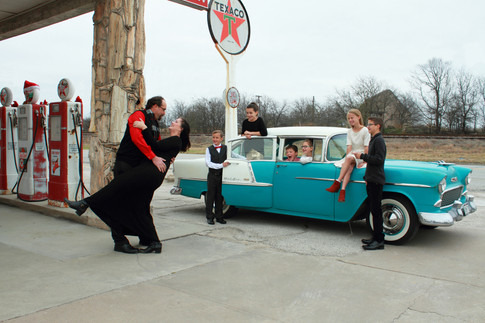 Family with 57 Chevy