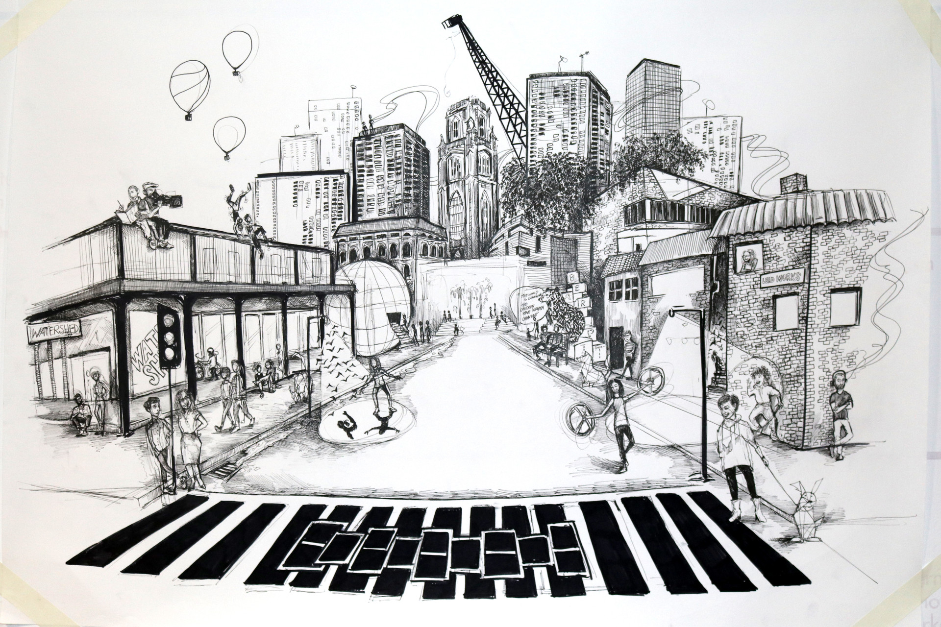 A3 sketch- wall 1