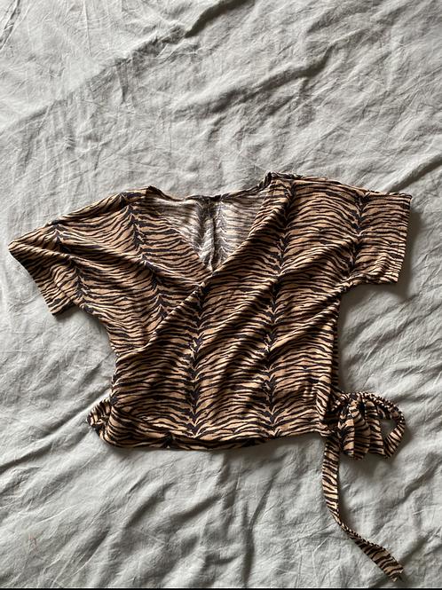 Cache coeur leopard jersey