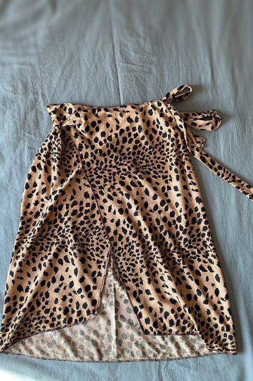 Jupe porte feuille leopard