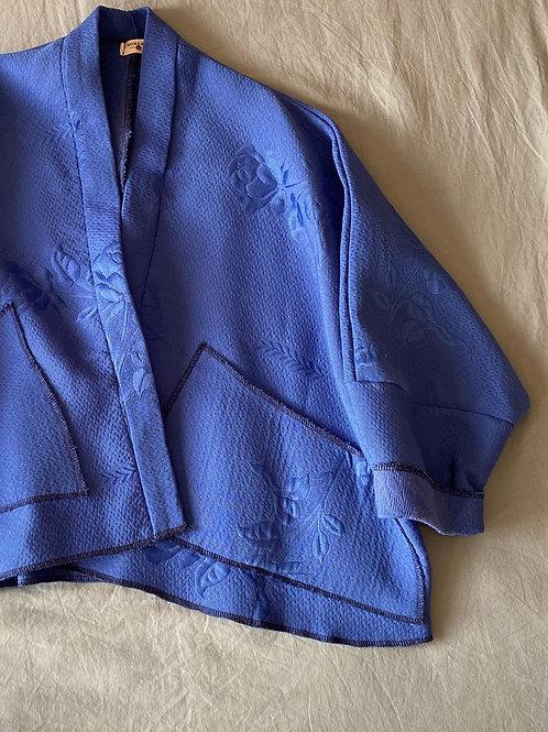 KIMONO bleu tapissier
