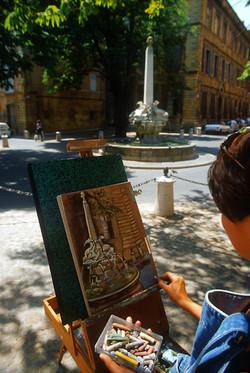 Peintre Place des 4 Dauphins