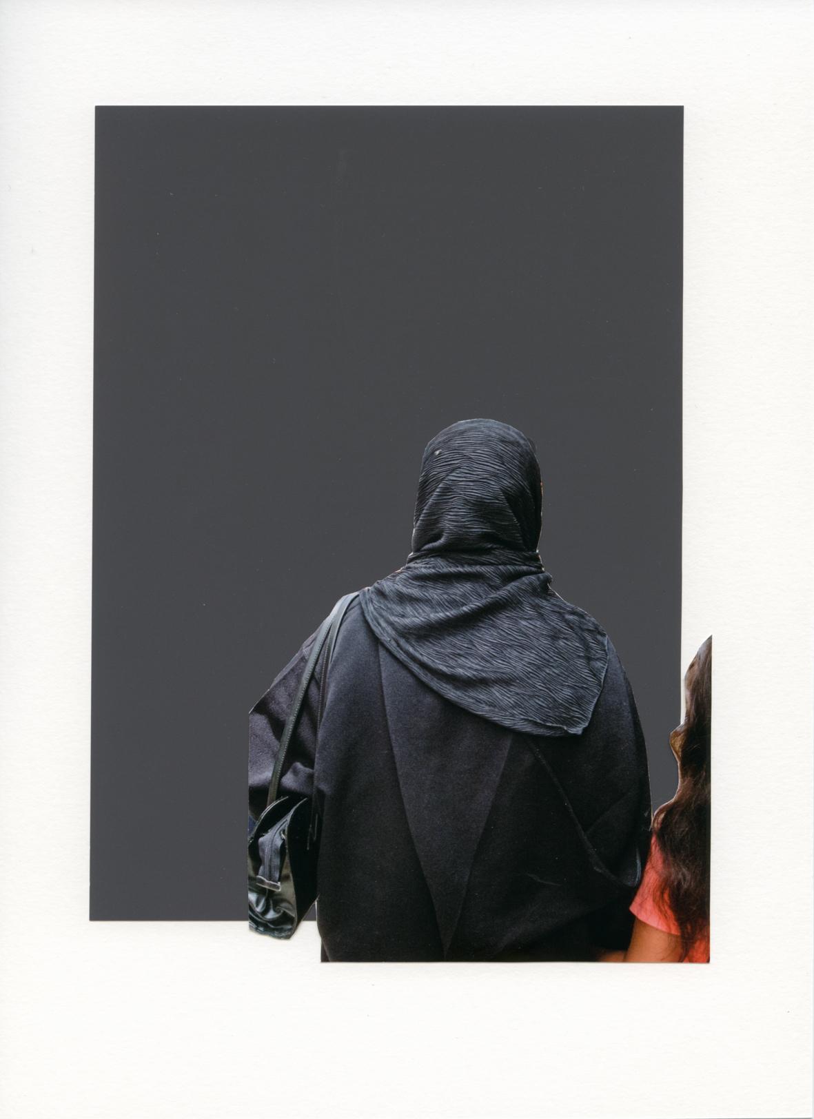 Foulard Noir sur Noir
