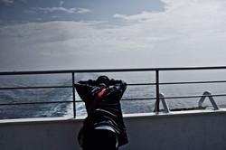 Traversée 2e jour guetter l'horizon