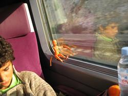 Maia et Arthur en TGV