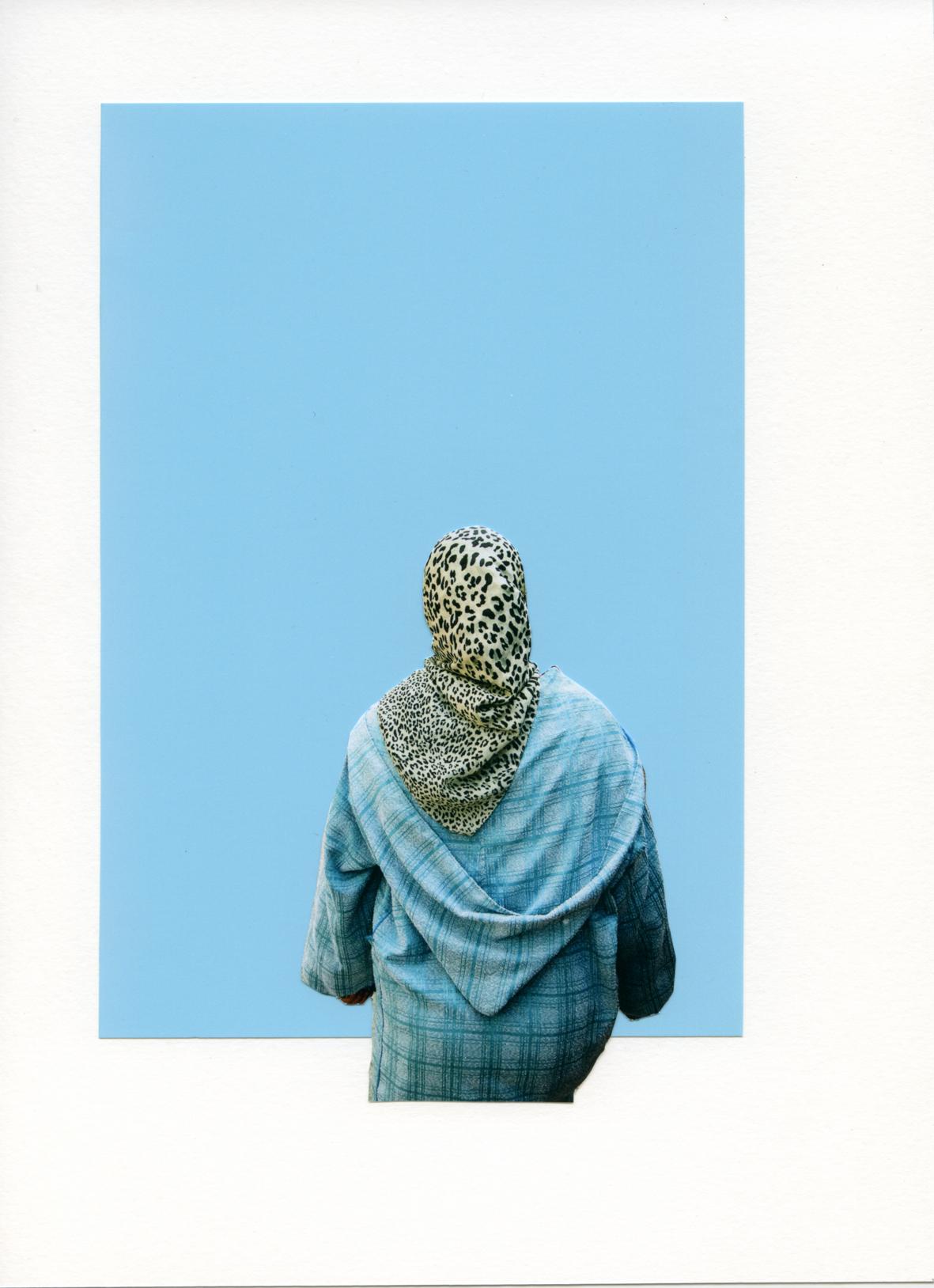 Foulard Panthère sur Turquoise