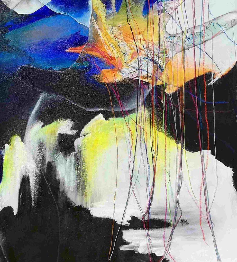 99.8% Alike Mixed media on canvas 149 x 114 x 2.5 cm