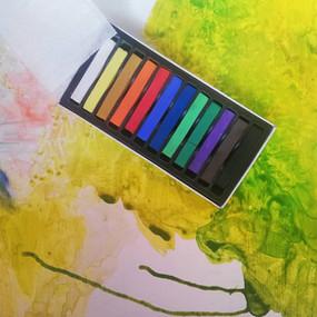 Soft pastels on paper