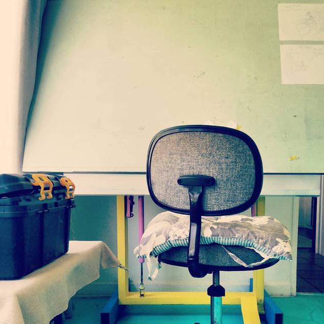 Artist Studio Set up