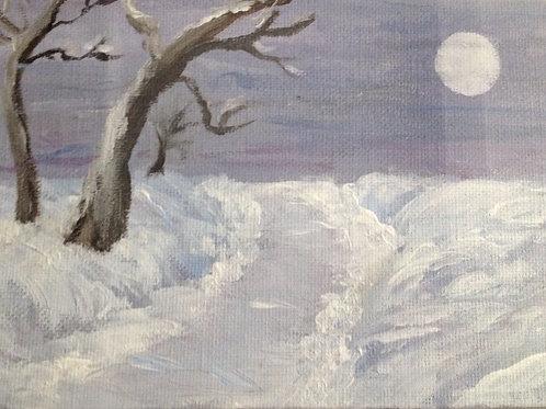 Snow Walk Painting