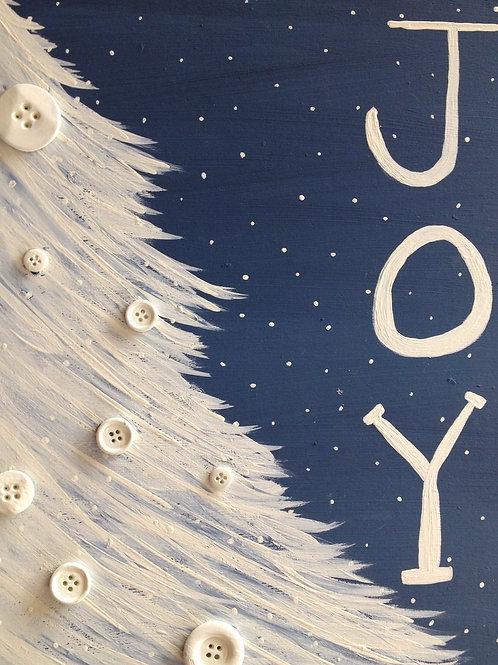 Joy Snow Christmas Tree