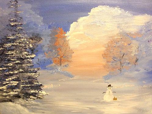 Sunrise Snow Landscape