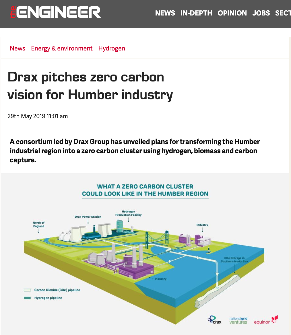 Editorial site using the graphic