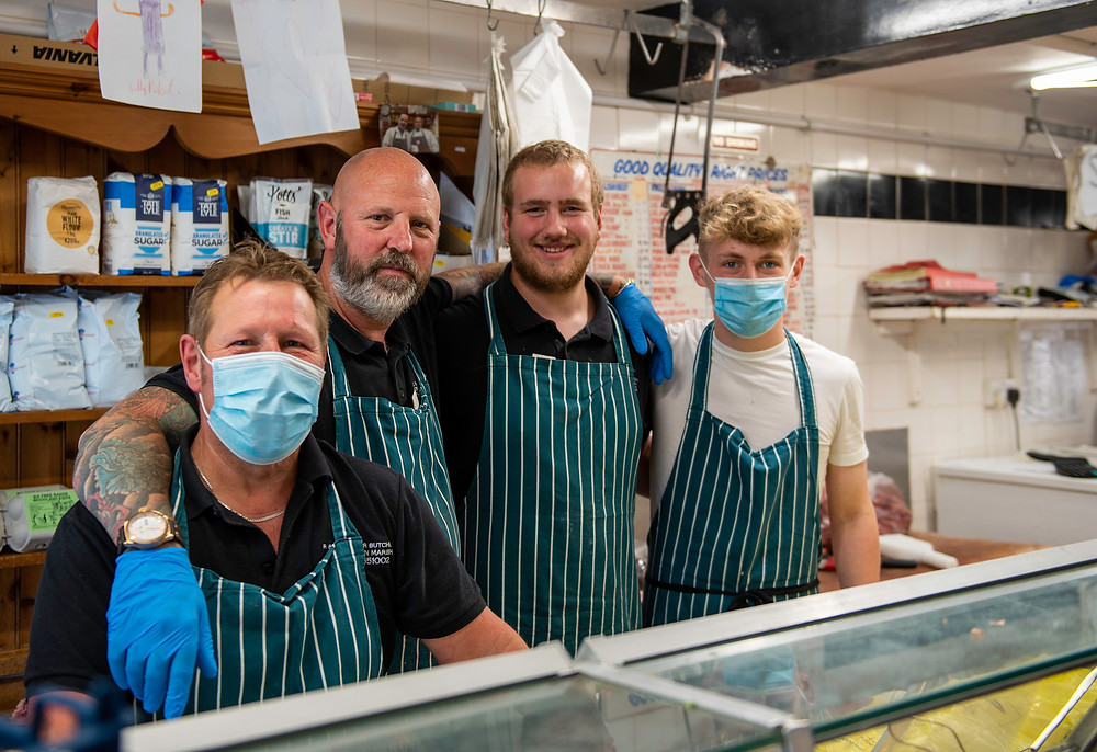 The boys at R & D Walker, local Butchers