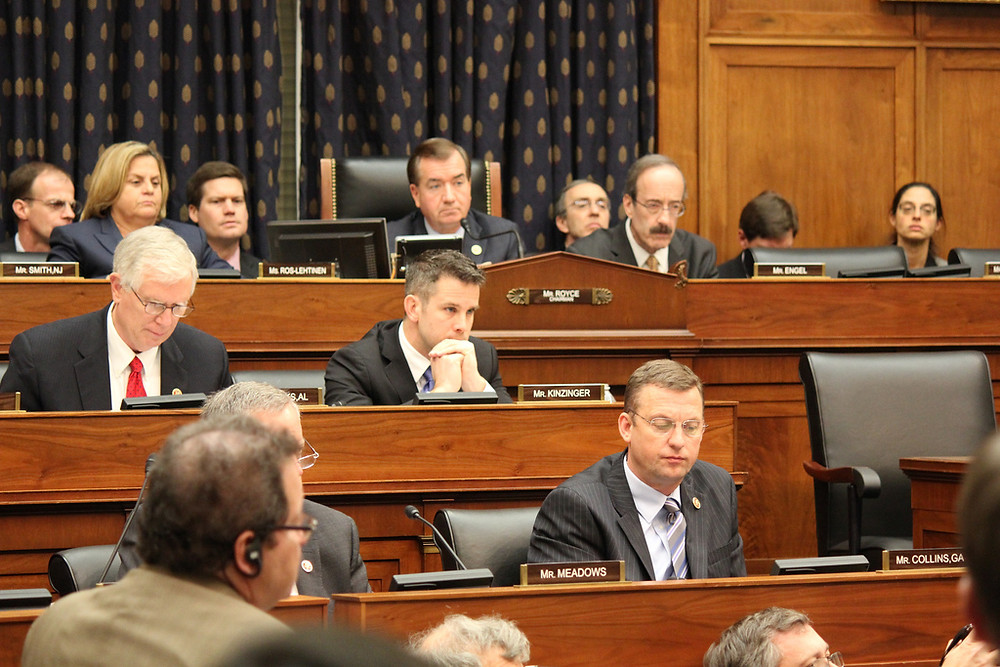 An image from the House Hearing room