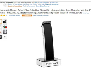 NEW ITEM: Rechargeable Modern Black Matte Finish Hair Clipper Kit  #1 New Release On Amazon  Get 30%