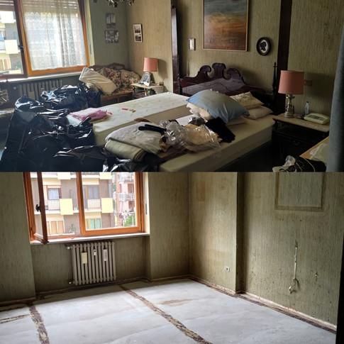 Sgombero camera da letto