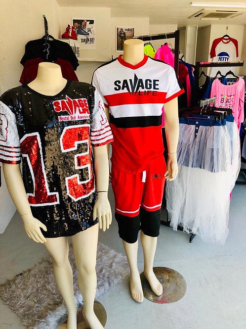 Custom Savage Sequin T-shirt Dress