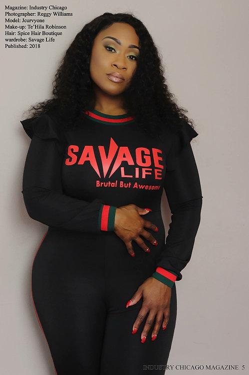 SaVage Life Ruffle neck One piece jumpsuit