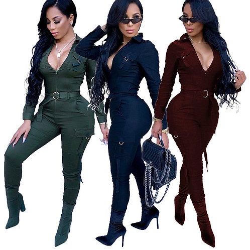 SaVage Combat belted Jumpsuit