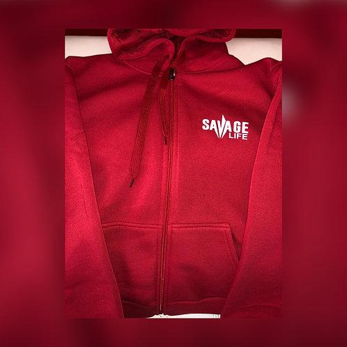 Savage Life Zipper Hoodie