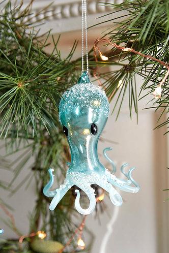 Blue Glass Octopus