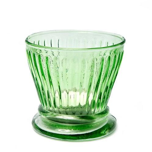 Green Glass Votive
