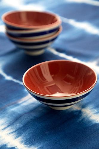 Blue & White Stripy Bowl