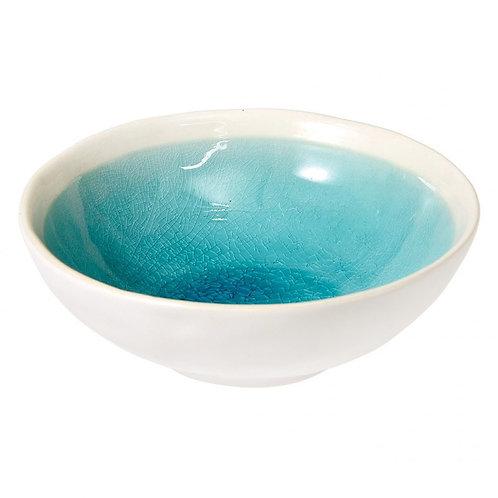 Crackle Glaze Bowl - Turquoise