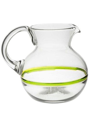 Glass Water Pitcher - Blended Green